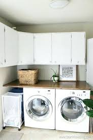 diy laundry room countertop over washer dryer plywood bean in love
