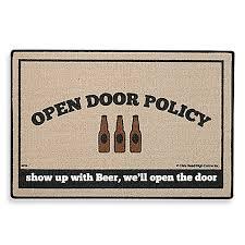 open door policy. Open Door Policy Beer Mat