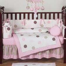 beautiful modern baby girl crib bedding ideas amazing baby crib bedding with round pattern along