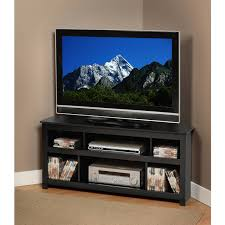 Lcd Tv Furniture Prepac Vasari 48 Corner Tv Stand In Black Walmartcom