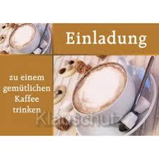 Postkarte Einladung Kaffee