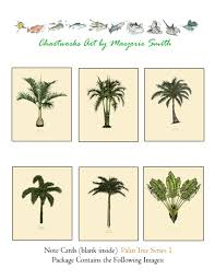 Palm Tree Chart Palm Tree Cards Series 1a Florida Palm Tree Note Cards