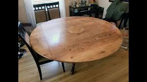 round to square drop leaf table top