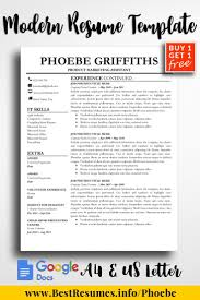 Resume Template Phoebe Griffiths Professional Resume Templates