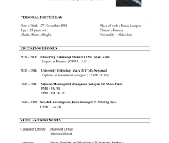 A Sample Resume For A Job Resume Format Samples Sample For Freshers Free Download Examples Pdf 19
