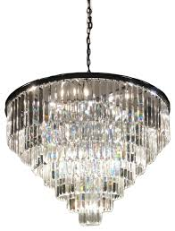 sk 7 tier odeon crystal prism fringe chandelier