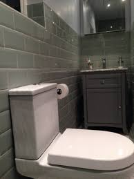 classic metro tiles with metal grey grouting the tile colour is called algea