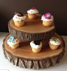 Wood Slice Wedding Cake Stands Wood Rounds Stump Cake Stand