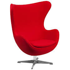 Amazon.com: Flash Furniture Red Wool Fabric Egg Chair with Tilt-Lock  Mechanism: Kitchen & Dining