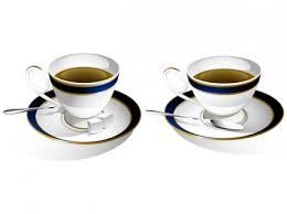 two coffee cups with coffee. Brilliant Coffee In Two Coffee Cups With N