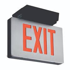 Emergi Lite Exit Lights Abb Emergi Lite Combination Exit Signs