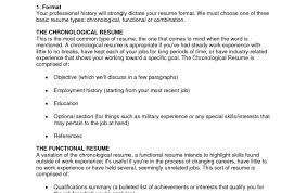 Best Solutions Of Special What Is A Chronological Resume Cool How To