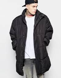 Asos Oversized Quilted Parka Jacket In Black in Black for Men   Lyst & Gallery Adamdwight.com