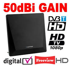 tv indoor antenna. sentinel active digital indoor tv antenna aerial 50dbi with 4g filter ideal for freeview tv