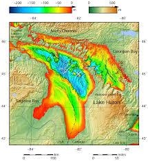 Lake Michigan Bathymetry Chart File Lake Huron Bathymetry Map Png Wikimedia Commons