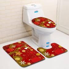 new printed flannel polyester bathroom rug set quick dry large washable anti slip soft bath mats