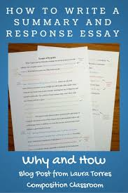 top ideas about types of essay essay writing why to assign summary and response essays before a research paper and the steps to accomplish