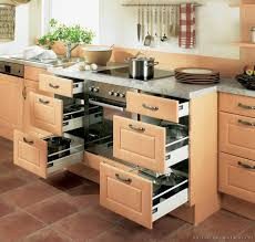 modern wood kitchen cabinets. Modern Kitchen Cabinets With Drawers And Light Wood Built In Oven
