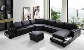 vg rz modern black sectional sofa