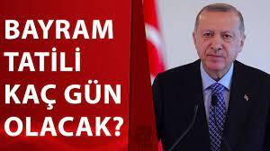 Gözler kabine toplantısında! Kurban Bayramı tatili kaç gün olacak? Başkan  Erdoğan bugün açıklayacak - YouTube