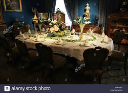 dining place settings. Victorian Dining Table Setting, Silver Service Place Settings In A Room R