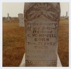 Grave Marker of Charles Wesley Howell] - The Portal to Texas History