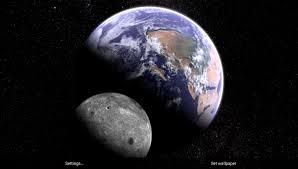 Earth & Moon in HD Gyro 3D Parallax ...