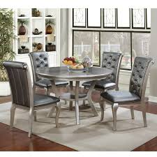 Shop Valencia Glam Champagne 5 Piece Dining Table Set By Foa On