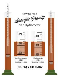 Specific Gravity Chart For Wine Illustration Reading Specific Gravity In 2019 Wine