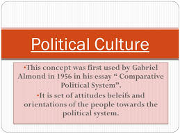 political culture this concept was first used by gabriel almond this concept was first used by gabriel almond in 1956 in his essay comparative political system