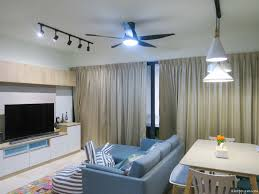 for both the living room and master bedroom we installed the u60fw a remote controlled ceiling fan that has a dc motor and measures 60 inches 150cm in