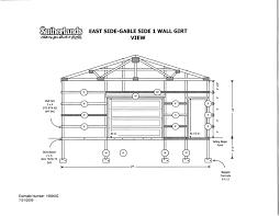side elevation framing details