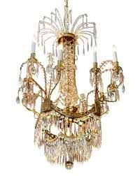 russian crystal and dore bronze eight arm chandelier from the plaza hotel new york new york it has been completely red and rewired
