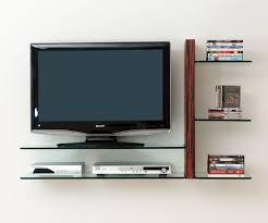 wall mount tv cabinet with glass