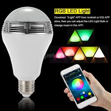 Ts D03 Smart Wireless Bluetooth Speaker Lamp Led Bulb E27 3w With Rgb Led Light App Control For Iphone Android White