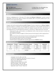 Sample Java Resume Mesmerizing ResumeJava Developer