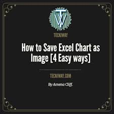 How To Save Excel Chart As Image On Ms Excel 4 Easy Ways