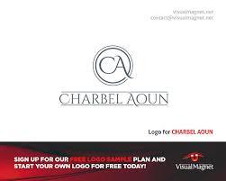 Free Company Logo Design Samples Logo For Charbel Aoun Design By Visual Magnet Logodesign