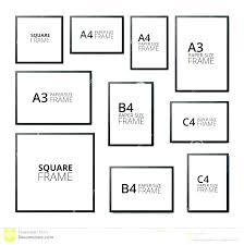 Frame Size Chart What Are Common Picture Frame Sizes Insigniashop Co