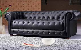black leather tufted sofa.  Sofa Black Leather Tufted Couch Throughout Sofa A