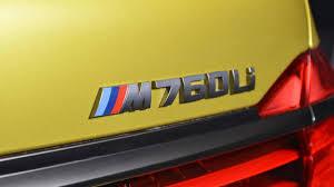 BMW Convertible bmw individual badge : Austin Yellow M760Li by BMW Individual displayed in Abu Dhabi