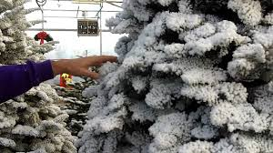 Flocked Christmas Tree Christmas Tree Flocking Styles Youtube