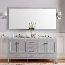 Our bathroom cabinets range in size from 19 to 72. Brayden Studio Pichardo 78 Transitional Double Bathroom Vanity Set Reviews Wayfair