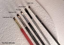 eyebrow brush before and after. eyebrow brushes: hakuhodo, paula dorf, shu uemura, mac, sephora brush before and after s