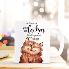 Tasse Becher Lustige Katze Kaffeebecher Mit Spruch Immer Wenn Wir