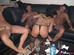 Milf sluts in homemade gang bang