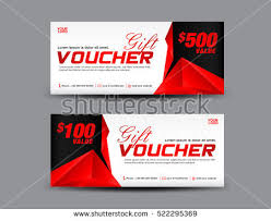 coupon design gift voucher template coupon design red stock vector hd royalty