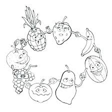 Fruit Coloring Pages To Print Printable Fruit Coloring Pages