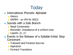 The international phonetic alphabet (ipa) is an academic standard created by the international phonetic association. Ece 598 The Speech Chain Lecture 9 Consonants Today International Phonetic Alphabet International Phonetic Alphabet History History Sampa An Ipa Ppt Download