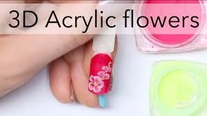 3D acrylic flowers design for beginners | Easy nail art ideas by ...